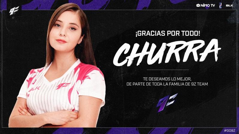 """Por """"decisão do time"""", Churra deixa equipe feminina da 9z"""