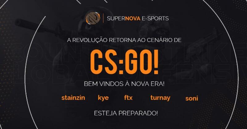SuperNova oficializa nova line-up de Counter-Strike