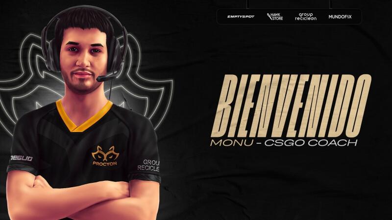 Recém-chegada no Counter-Strike, Procyon anuncia Monu como treinador