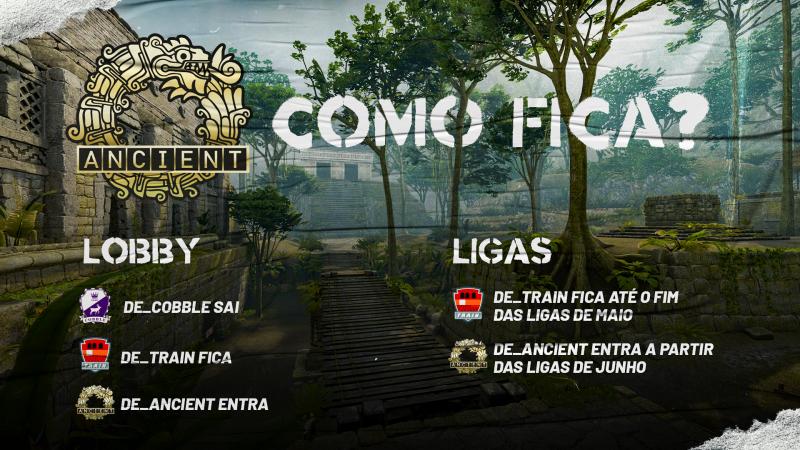 Gamers Club adiciona Ancient na lobby e ranked; campeonatos a partir de junho com nova rotação